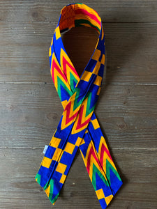 Ankara Print Twisted Headband- Chevron