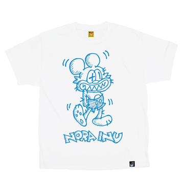 Fake Cartoon Mouse Tee (WHITE)