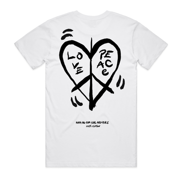 Nora Inu for Love and Peace (White)