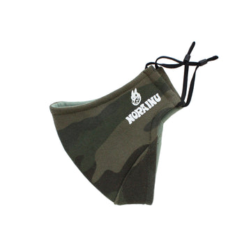 Nora Inu Logo Face Mask (GREEN CAMO)