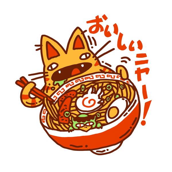 Ramen Cat Sticker