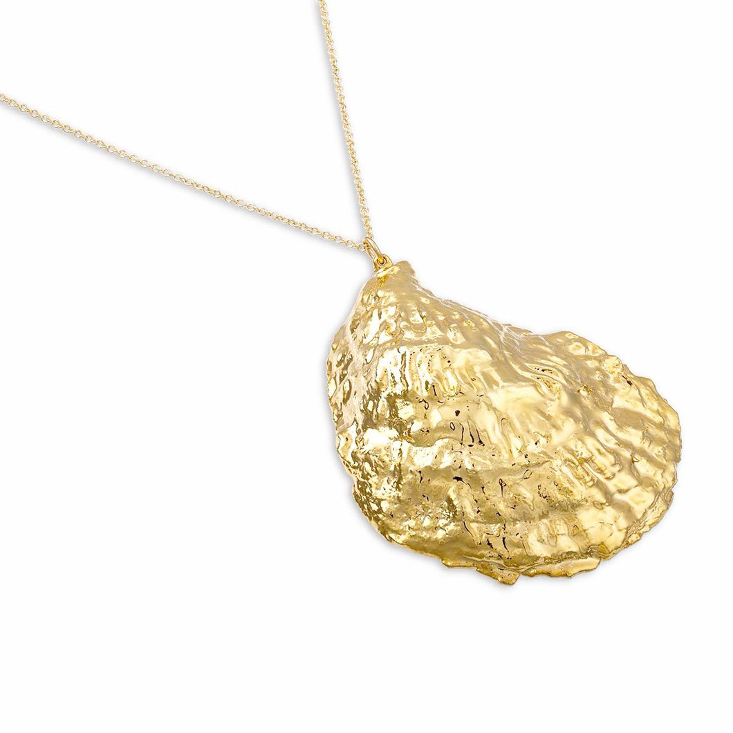 Gold Dipped Oyster Necklace