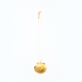gold dipped scallop necklace
