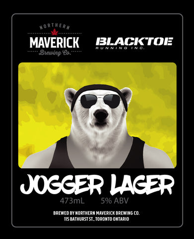 Northern Maverick Brewing and BlackToe Running Jogger Lager