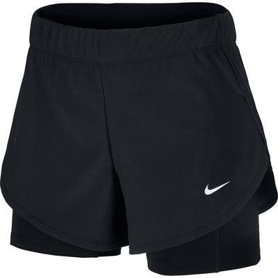 Women's Nike Flex 2-in-1 Training Short - BlackToe Running Inc.