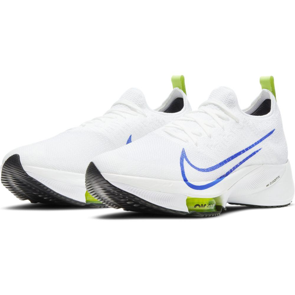 Nike Men's Air Zoom Tempo Next% - White & Racer Blue - BlackToe Running Inc. - Toronto Running Specialty Store
