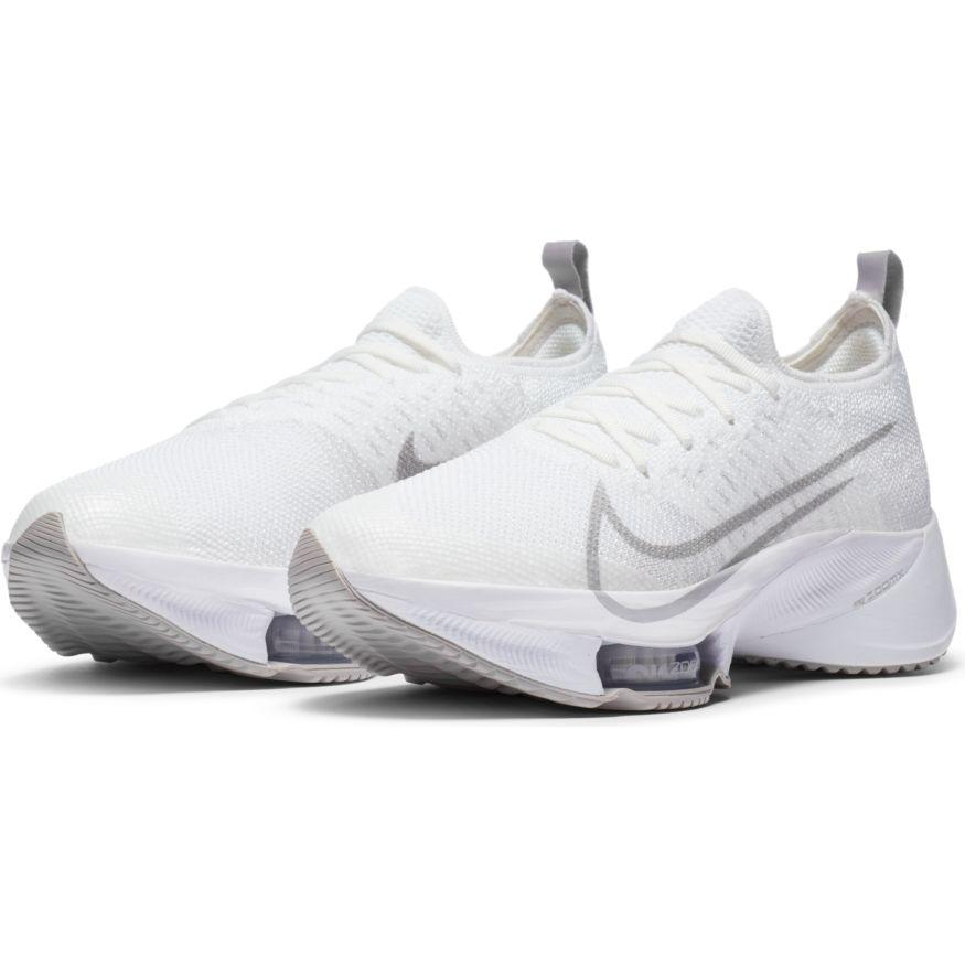 Nike Women's Air Zoom Tempo Next% - White & Atmosphere Grey - BlackToe Running Inc. - Toronto Running Specialty Store