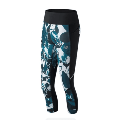 New Balance Women's Printed Impact Capri - BlackToe Running Inc.