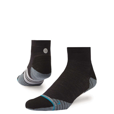 Stance Men's Run Uncommon Solids Wool QTR - BlackToe Running Inc.