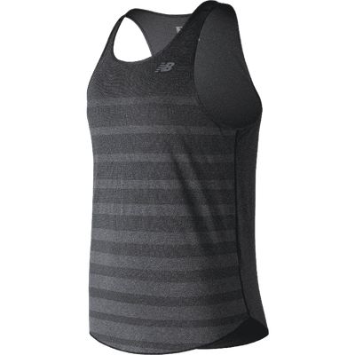 New Balance Men's Q Speed Jacquard Tank - BlackToe Running Inc.