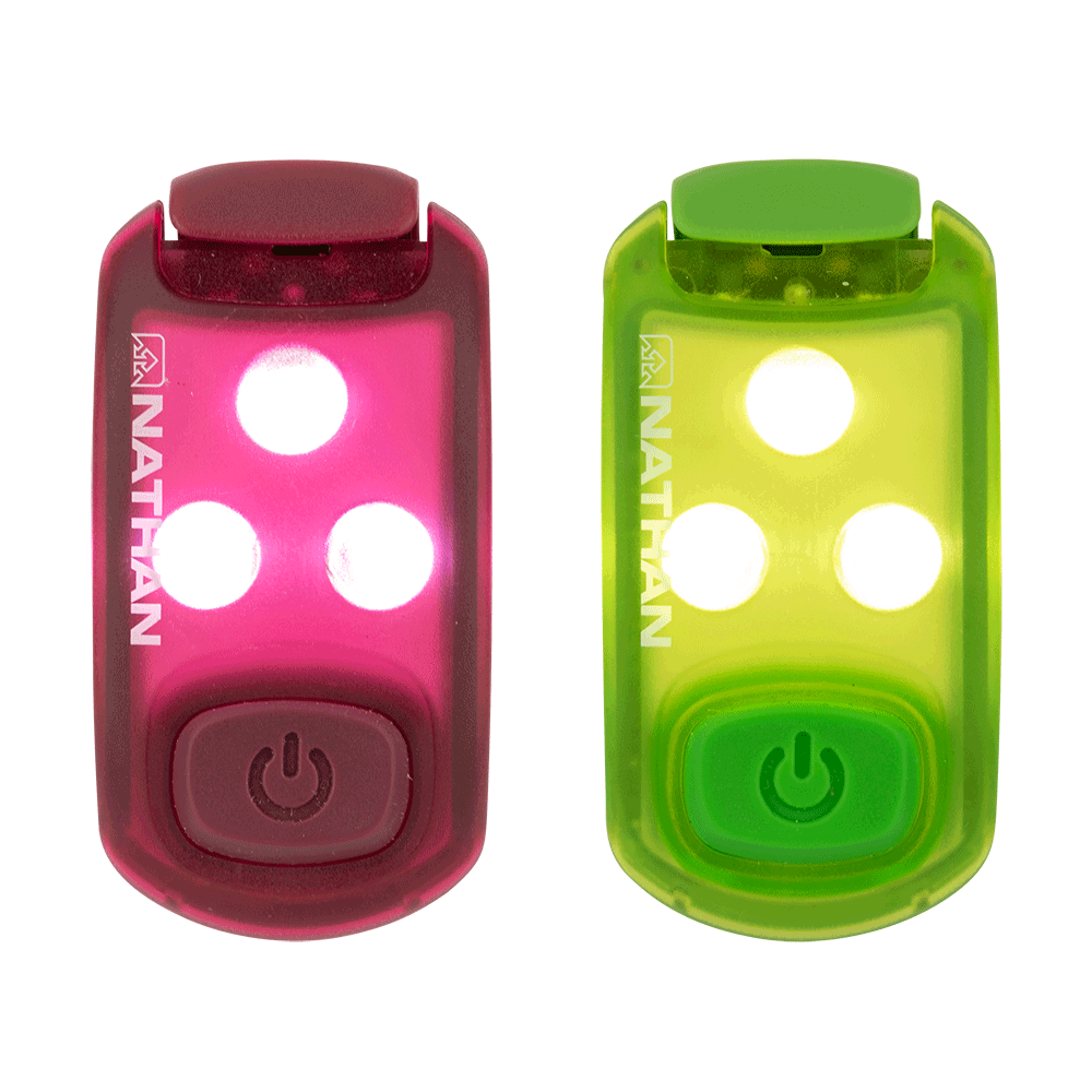 Nathan Strobelight LED Safety Light Clip - 2 Pack - BlackToe Running Inc. - Toronto Running Specialty Store