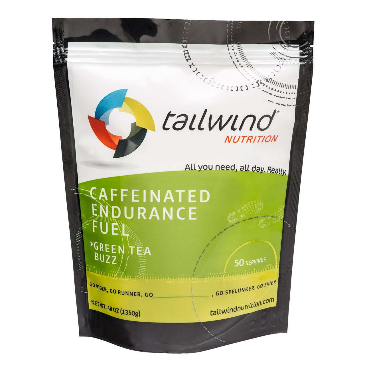 Tailwind Nutrition - 50 Serving Bag Caffeinated - BlackToe Running Inc. - Toronto Running Specialty Store
