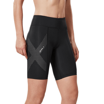 2XU Women's Mid-Rise Compression Shorts - BlackToe Running Inc. - Toronto Running Specialty Store
