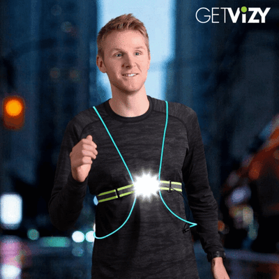 GetVizy LED Rechargeable Vest - BlackToe Running Inc.