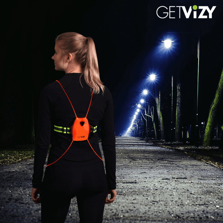 GetVizy LED Rechargeable Vest - BlackToe Running Inc. - Toronto Running Specialty Store