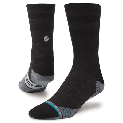 Stance Men's Run Uncommon Solids Wool Crew - BlackToe Running Inc.