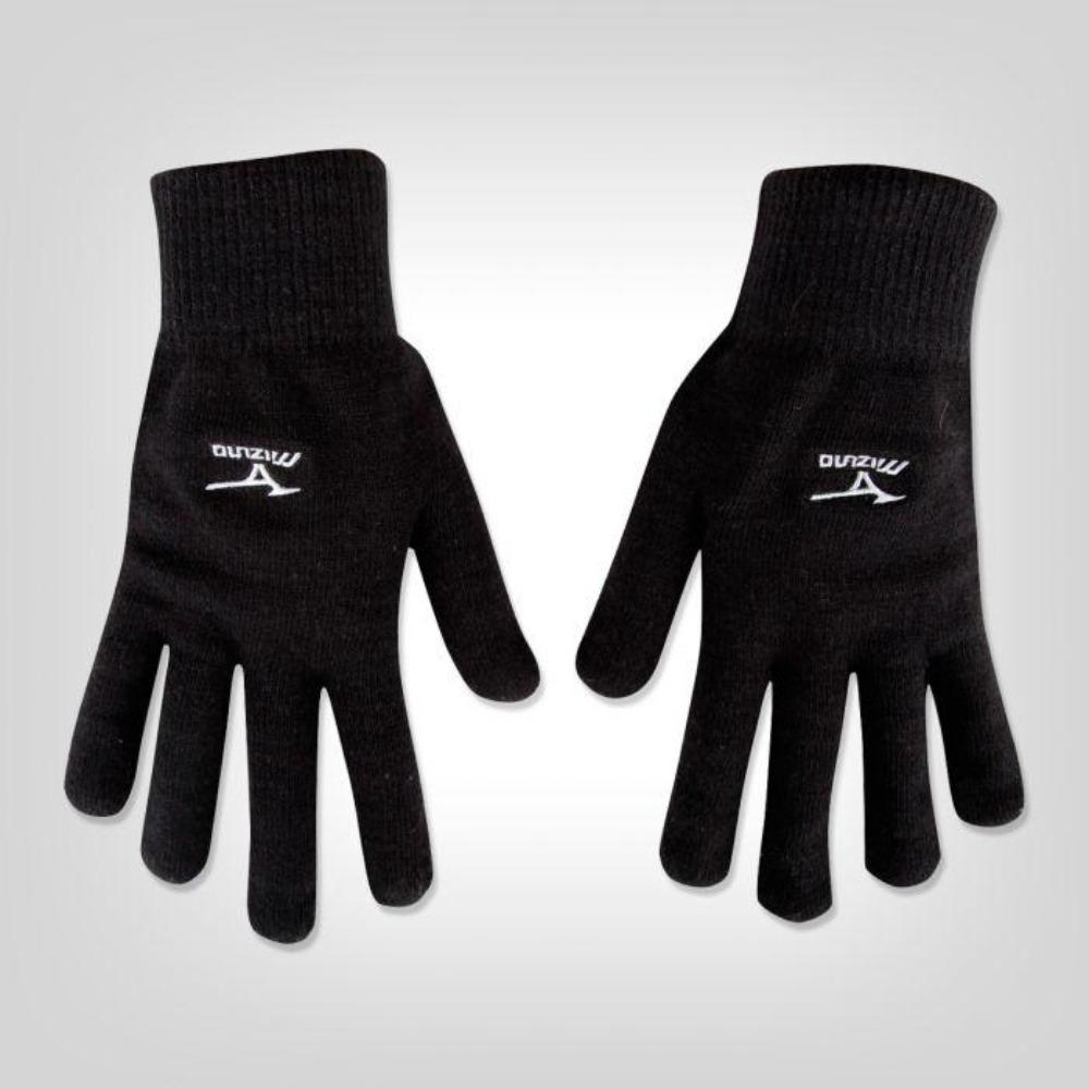 Mizuno Breath Thermo Knit Gloves - BlackToe Running Inc. - Toronto Running Specialty Store