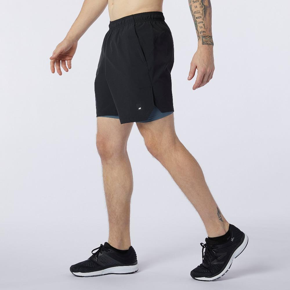New Balance Men's Fortitech 7 inch 2 In 1 Short - BlackToe Running Inc. - Toronto Running Specialty Store