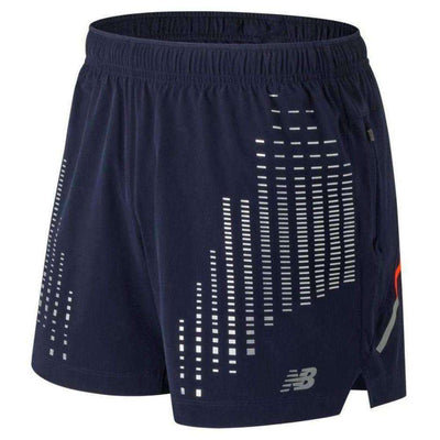 New Balance Men's Reflective Impact 5 Inch Short - BlackToe Running Inc.