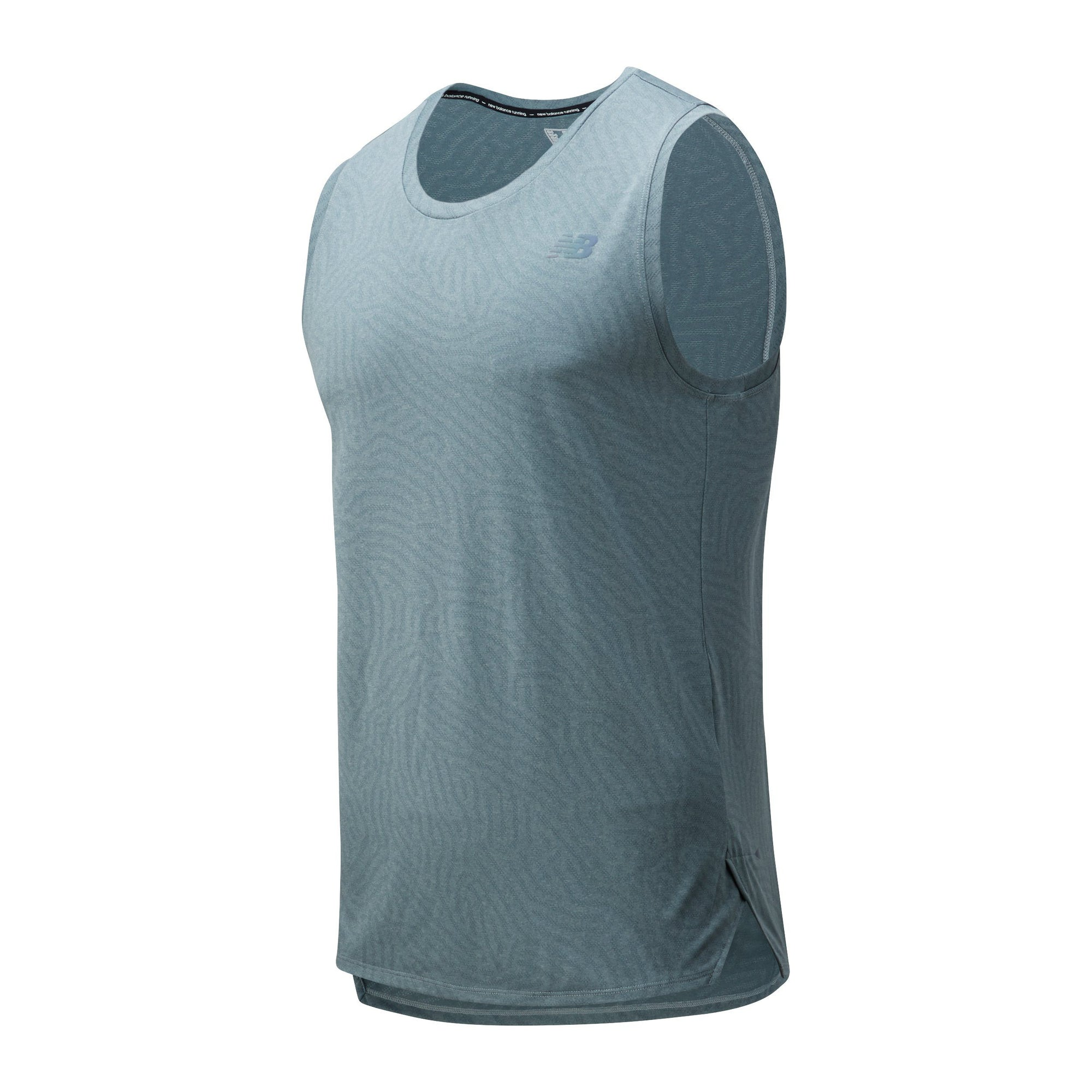 New Balance Men's Q Speed Jacquard Sleeveless Tank - BlackToe Running Inc. - Toronto Running Specialty Store