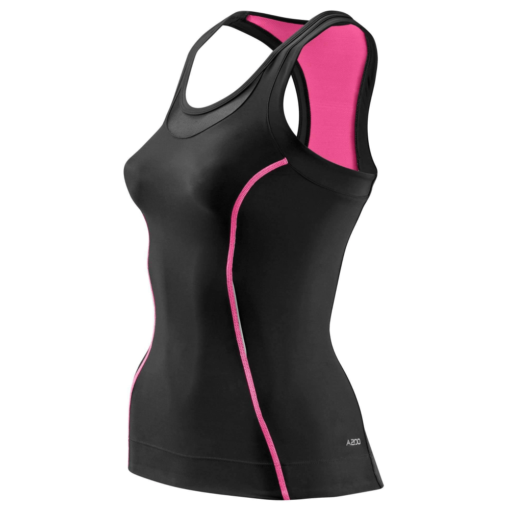 Skins Women's A200 Racer Back Compression Top - BlackToe Running Inc. - Toronto Running Specialty Store