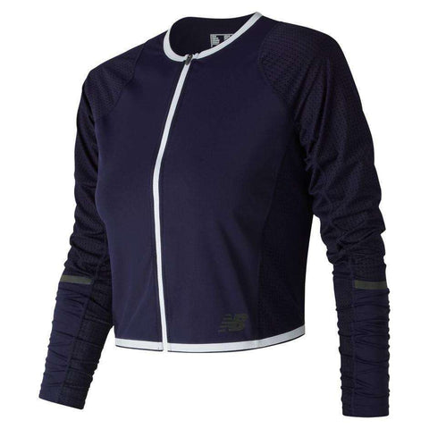 New Balance Women's Q Speed Crop Jacket - BlackToe Running Inc.