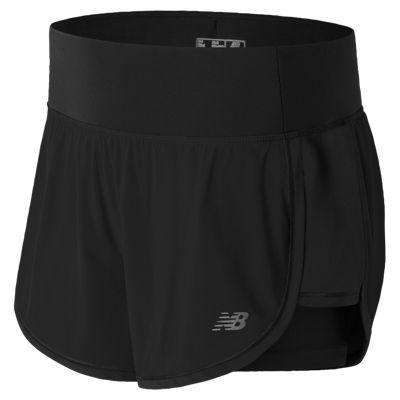 New Balance Women's Impact 4 Inch 2 in 1 Short - BlackToe Running Inc.