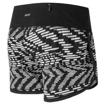 New Balance Women's Impact 3 Inch Printed Short - BlackToe Running Inc.