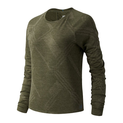 New Balance Women's Q Speed Jacquard Long Sleeve - BlackToe Running Inc. - Toronto Running Specialty Store