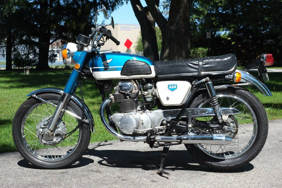 The Honda CB350  Click on the picture for details