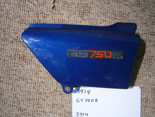 Suzuki GS750E Blue Sidecover with badge 1499