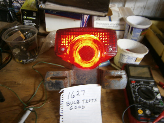 Honda CB350 CB175 CL350 CL175  Tail Light Complete with Lens, Screws and working bulb 1627