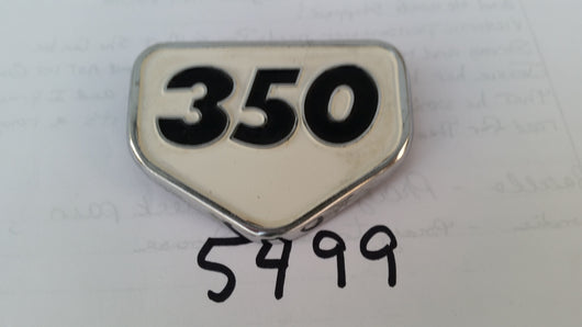 Honda CB350 CL350 Sidecover badge white 5499