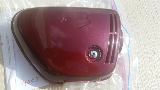 Honda CB350K4 Right Burgandy Sidecover NOS New 4007
