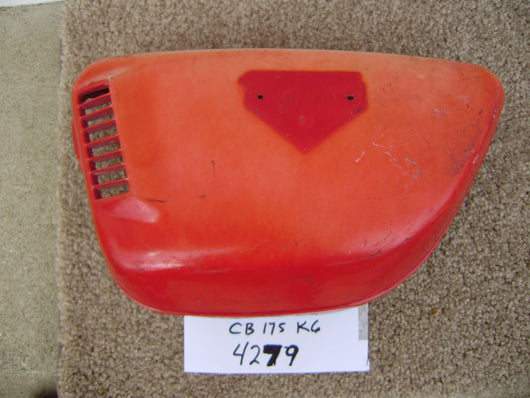 Honda CB175K6  sidecover left ruby red sku 4279