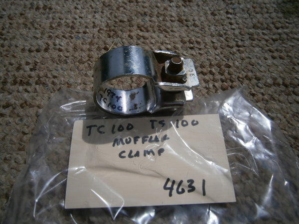 Suzuki TC90 Chrome Muffler Clamp sku 4631