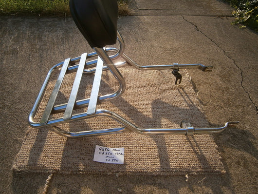 HONDA CB350 CL350 Luggage Rack with  Sissy Bar and  Backrest  sku 4636