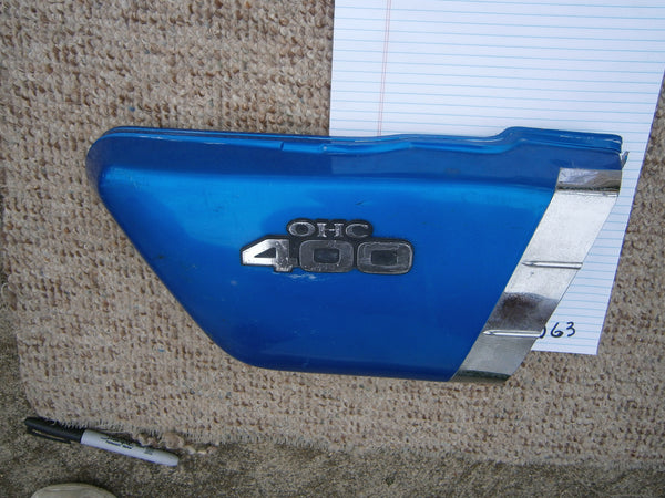 Kawasaki KZ400 Right Blue Sidecover 5063