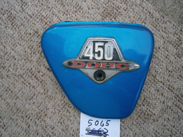 Honda CL450K2 K3 Sidecover Right  Candy Blue Green 5065