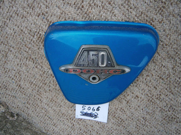 Honda CL450K2 K3 Sidecover Left Candy Blue Green 5066