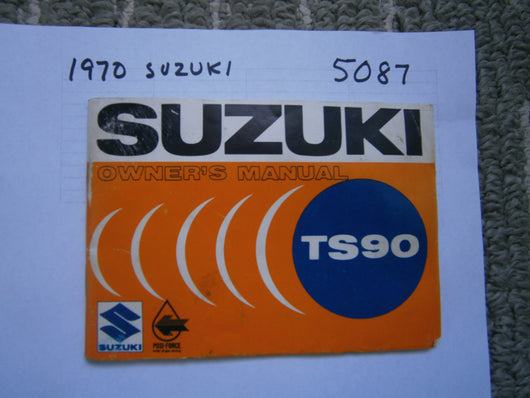 Suzuki TS90 owners manual 1970 5087