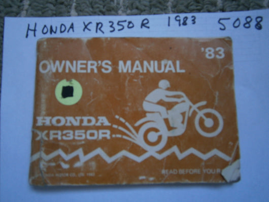 Honda XR350R Owners Manual 5088