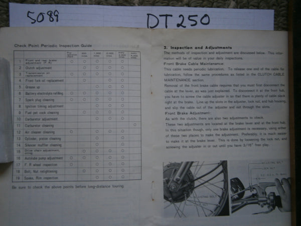 Yamaha DT2 Original Manual 5089