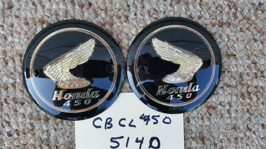 Honda CB450 CL450 1965-1968 Gas Tank Badge Pair 5469