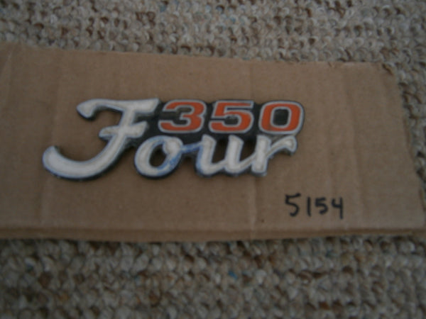 Honda CB350F 350 Four Sidecover Badge  5154