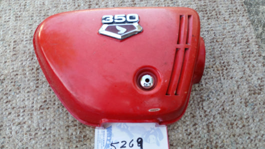 Honda CB350 Sidecover Red Left 5269