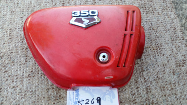 Honda CB350 Sidecover Red Right 5269