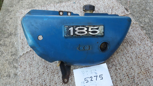 Suzuki TS185 TC185 Sidecover Left with oil tank  Blue  5275