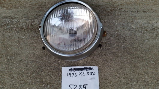 Honda XL350 working headlight 6 Volt  with headlight shell 5285