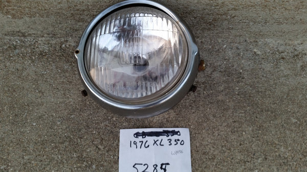 Honda XL350  XL250 Headlight complete plus Chrome Ring and Shell HM-23M-S sku 5285